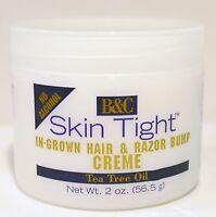 B&c Skin Tight In-grown Hair &razor Bump Crème Regular & Extra Strength 2 Oz
