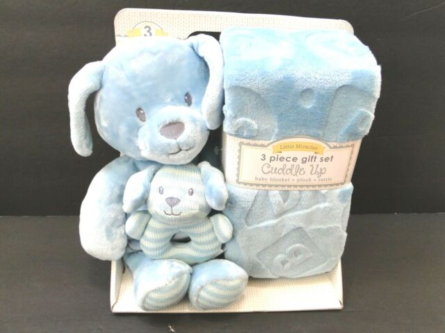Little Miracles Patchwork Pal Plush Puppy Dog Comfort Baby Gift Set For Sale Online Ebay