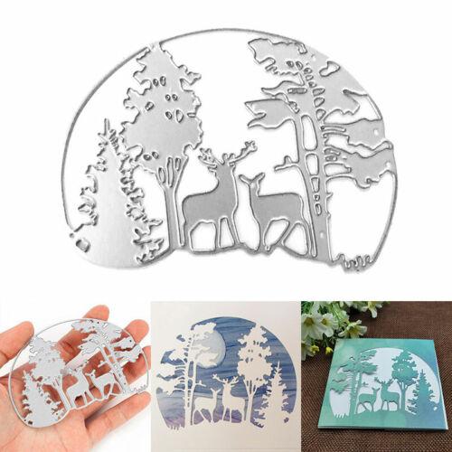 Christmas Tree Metal Cutting Dies Cut Die Mold Scrapbook Craft Mould Deer