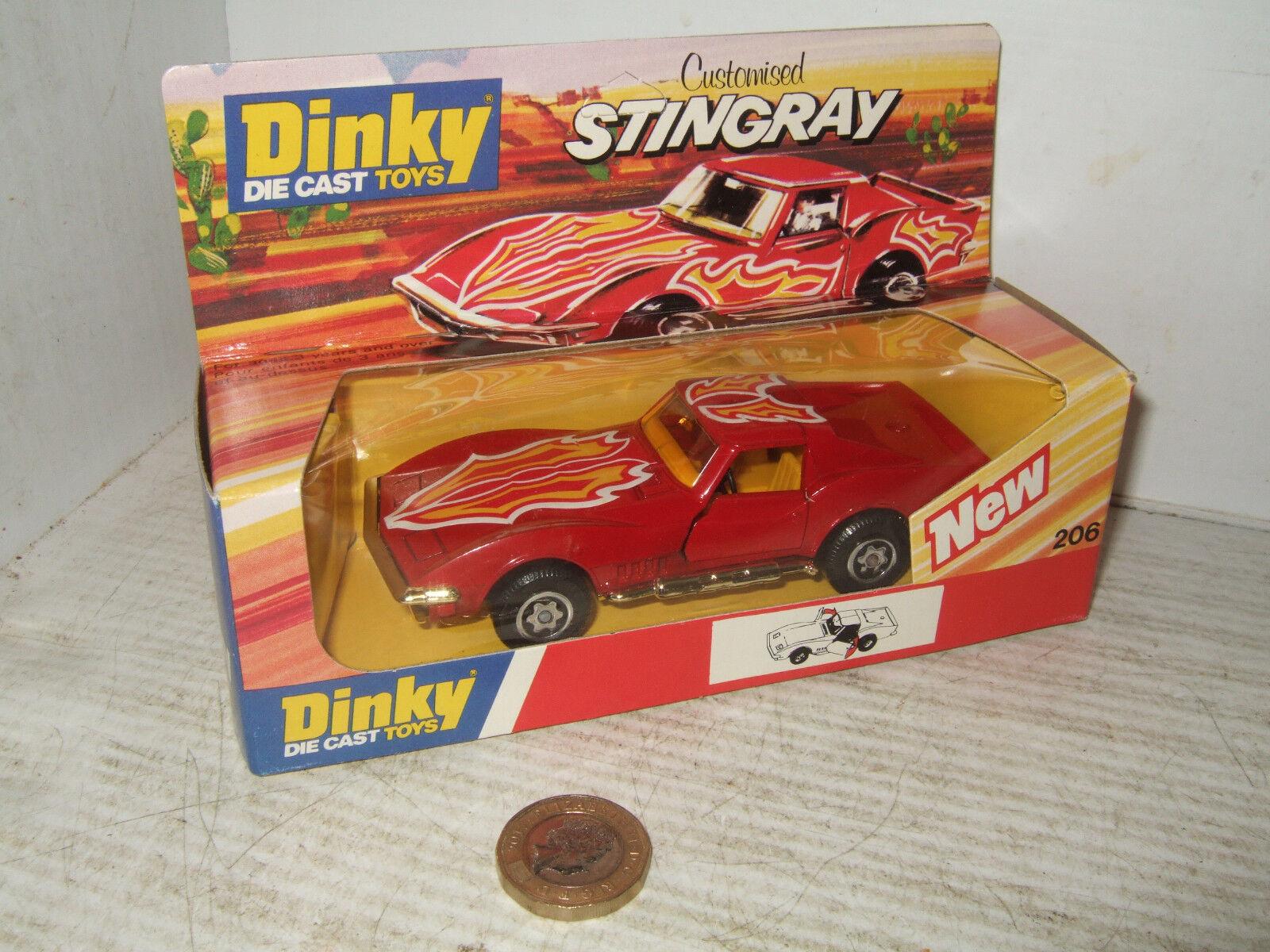 autorización oficial Vintage Dinky Modelo Modelo Modelo Diecast Personalizadas Stingris 206 en original caja de Dinky  hasta un 60% de descuento