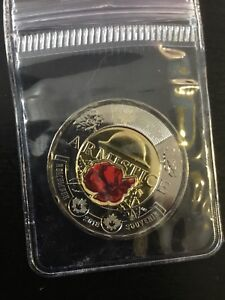 2018-CANADA-2-TWO-DOLLAR-COIN-TOONIE-ARMISTICE-COLORED-POPPY-FROM-MINT-UNC