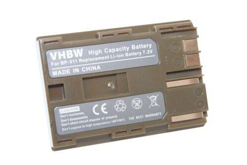 Original VHBW ® batería para Canon bp511 bp-511 Batería Acu.