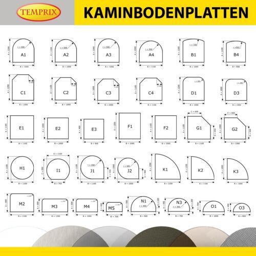 Temprix Kaminbodenplatte /& OfenblechFunkenschutzplatte für Kamin /& OfenA4