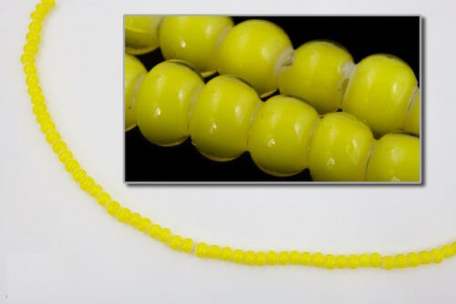 6//0 cœur blanc jaune Seed Bead #CSB235 10 gm, 1//2 KILO