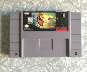 SNES-Disney-039-s-Timon-amp-Pumbaa-039-s-Jungle-Games-Super-Nintendo-Cartridge-TESTED