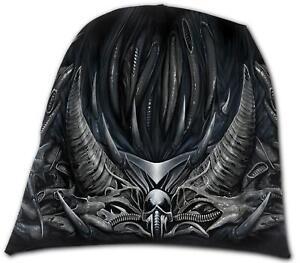 Spiral Direct DEATH ROAR Light Cotton Beanies Gray//Skull//Reaper//Hat//Soul//Dark