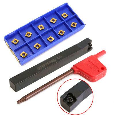 10x CCMT060204-HM Wendeschneidplatten 1x S10K-SCLCR06 Bohrstange Klemmhalter