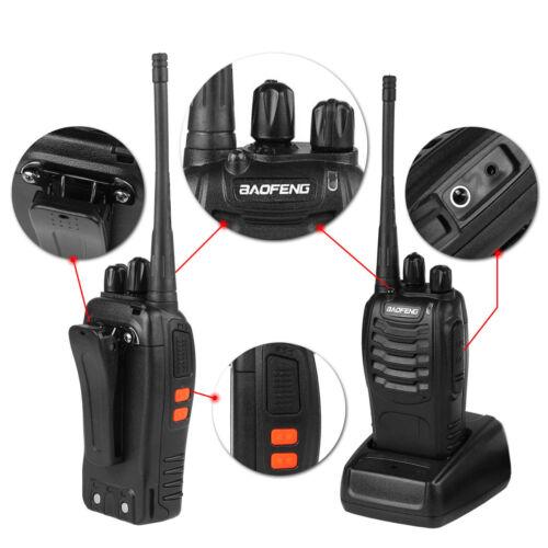 2x Baofeng BF-888S UHF 400-470MHz Two-way Ham Radio 5W CTCSS 16CH Walkie Talkie