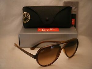 22ce0a94a1 Ray Ban 4125 CATS 5000 Striped Havana w Pink Brown Gradient Lens ...
