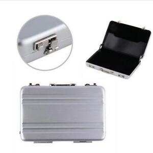 Details Zu Mini Safe Koffer Aktentasche Visitenkartenhalter Box Aluminium Fall