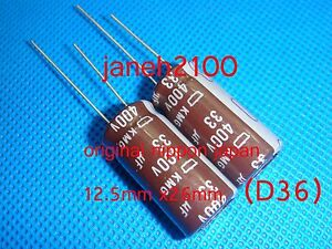 2pc-original-NIPPON-400V-33UF-Electrolytic-Capacitor-12-5X26mm