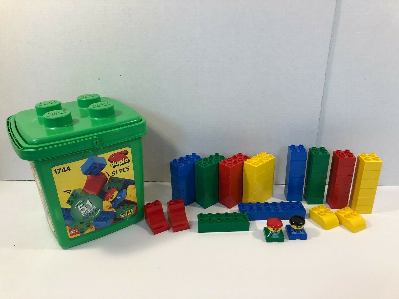 Lego Duplo 50 Pcs Limette Stones 2x2 Lime 4 Nubs Stone Building Bricks New