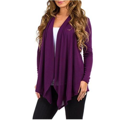 NEW Rags /& Couture Women/'s Draped Open Front Shirt Hacci Cardigan Sweater