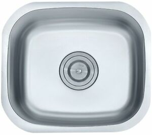 Stainless-Steel-Square-Single-One-Bowl-Washing-Sink-Small-Kitchen ...