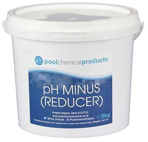 5kg ph reducer ph minus for swimming pools spas and hot tubs eb 5060437430288 ebay. Black Bedroom Furniture Sets. Home Design Ideas