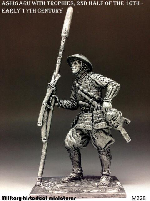 Ashigaru, Tin toy soldier 54 mm, figurine, metal sculpture
