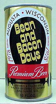 Walter Brewery WISCONSIN 1//1+ SAWDUST CITY DAYS 1980 BEER cs CAN w// LUMBERJACK