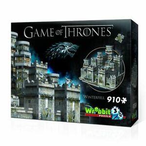 Wrebbit Game Of Thrones 3d Puzzle Winterfell Officiel Cadeau 910 Pièces