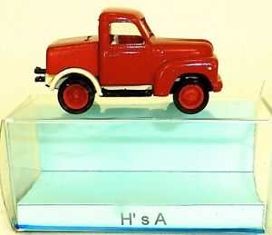 H-039-S-A-ZUGMASCHINE-Pick-Up-Truck-Rouge-kleinserie-H0-P10-A