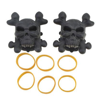 2pcs Skull Compound Bow Stabilizer Silencer Archery Limbs Shock Absorber Damper