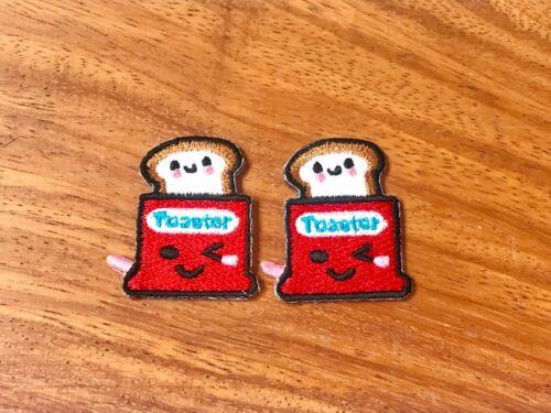 Set2 Set 2 pcs Mini Cute Cartoon Sew//Iron on Embroidered Applique Badge Patch
