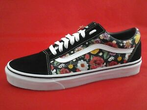 fe8dd3b73a VANS Shoes Black Roses Floral Old Skool Skate Unisex Mens 9 Womens ...