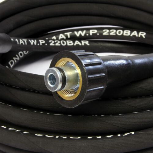 KARCHER 30m M22 Female to M22 Female Rubber Pressure Washer Hose Jet Power Wash