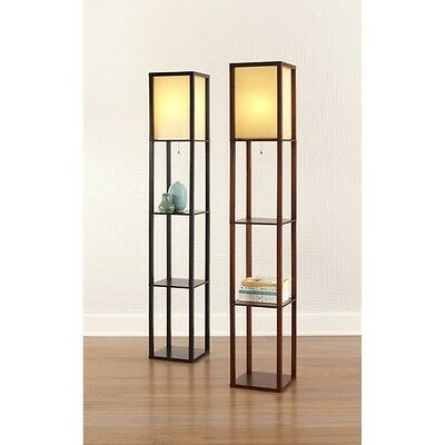 Threshold™ Floor Shelf Lamp with Ivory Shade(Includes CFL Bulb)