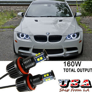 160W-H8-LED-CREE-Angel-Eyes-Halo-Ring-Bulbs-For-BMW-E90-E92-E93-E60-E61-X5-X6-Z4