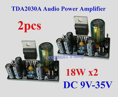 2pcs TDA2030A Audio Power Amplifier Board DIY OCL 18W*2 DC 9V-24V