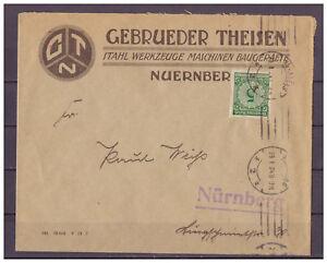 Deutsches-Reich-MiNr-339-innerhalb-Nuernberg-29-01-1924-Maschinen-St