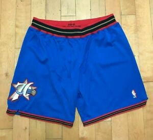 MITCHELL AND NESS AUTHENTIC PHILADELPHIA 76ERS SIXERS GAME SHORTS IVERSON 1999