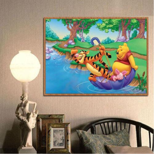 5D Full Drill Diamond Painting Rhinestone Pooh And Tigger Craft Art Home Decor