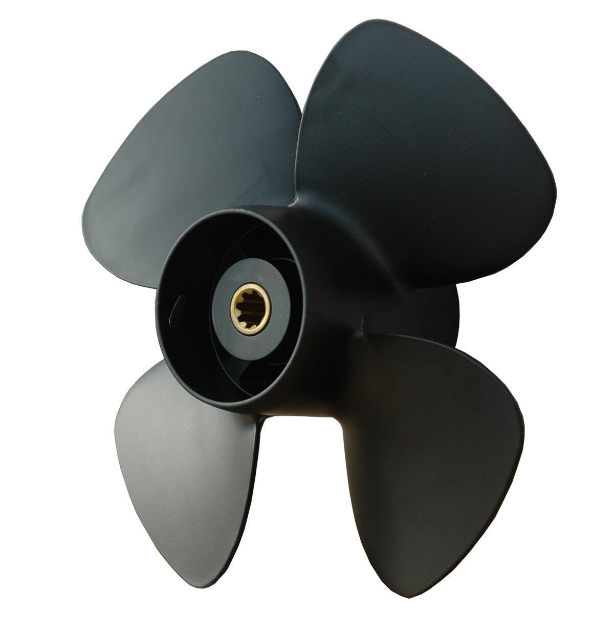 Propeller Alu 4 Blatt 10 x 7 7 7  für Yamaha 9,9 - 20 PS 8efe51