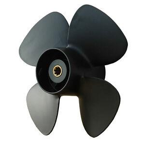Propeller Alu 4 Blatt 9 1//4 x 8  für Yamaha 9,9-20 PS