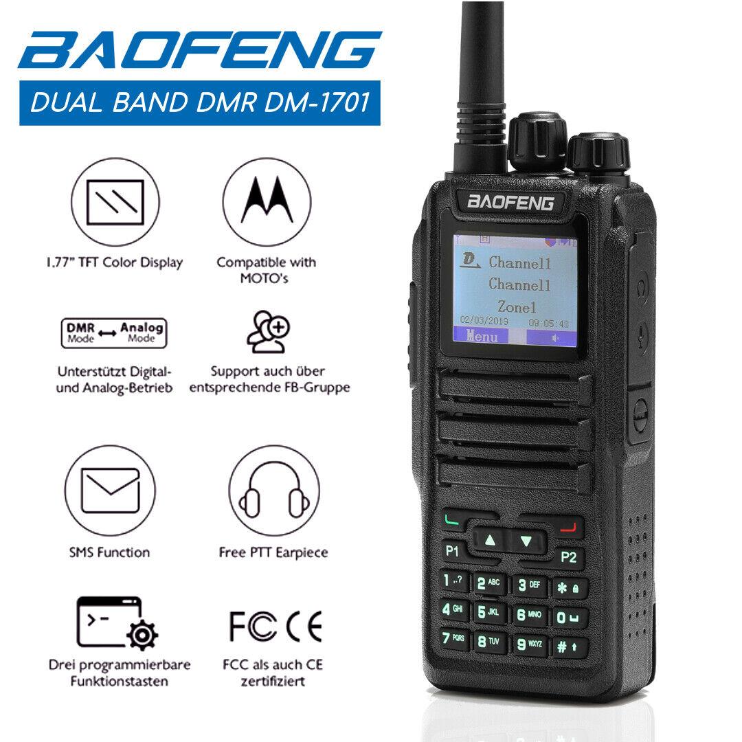 519263802 nicheone Baofeng DM-1701 DMR Dual Band Digital VHF/UHF 3000CH Encryption Two way Radio