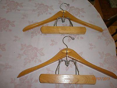 Vintage Oxford Wood Suit Clothes, Suit Hanger With Trouser Clamp
