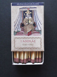 Hungarian-Kings-I-Andras-Matchbook-w-safety-match