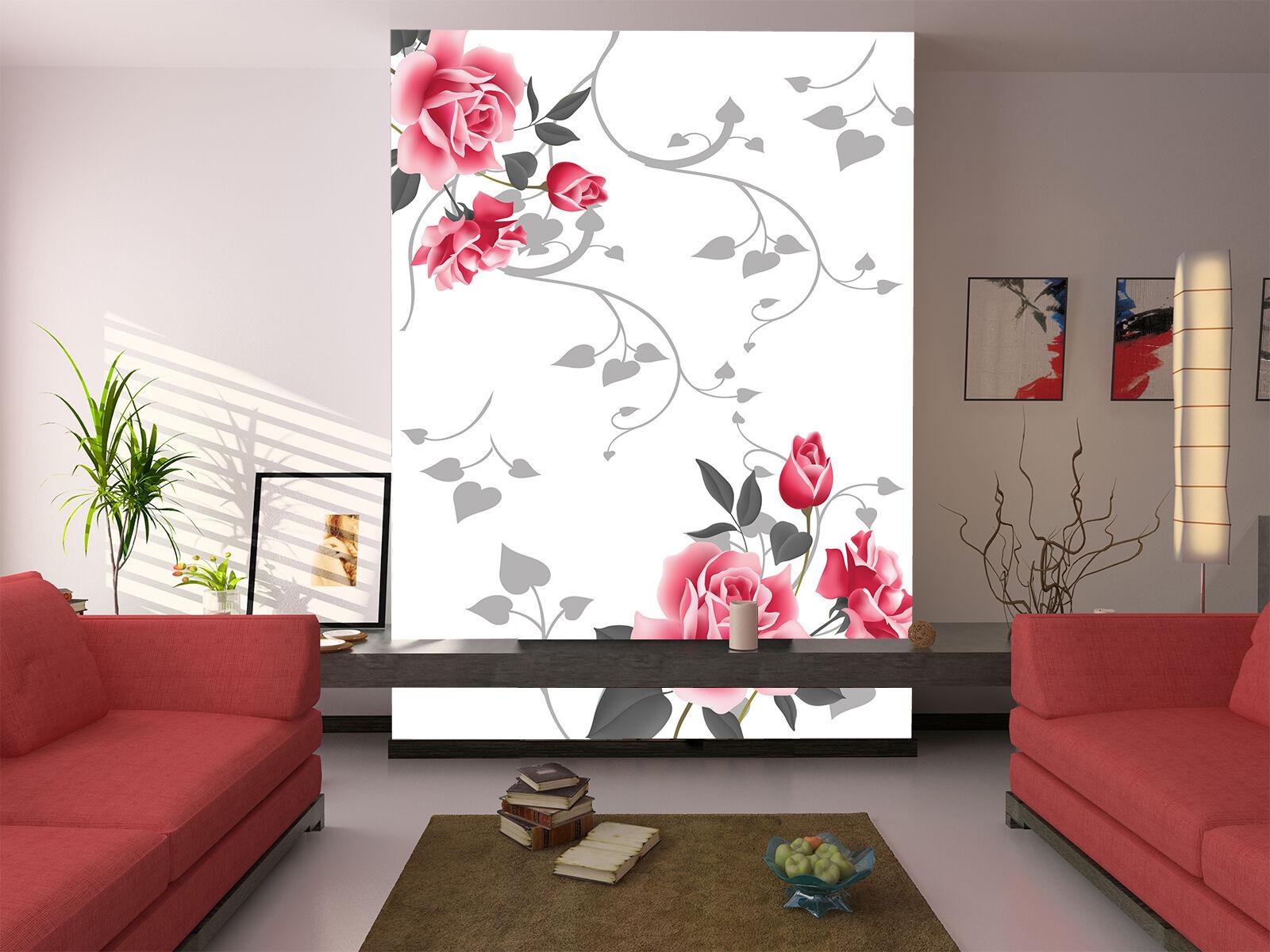 3D Ramo pink 68 Parete Murale Foto Carta da parati immagine sfondo muro stampa