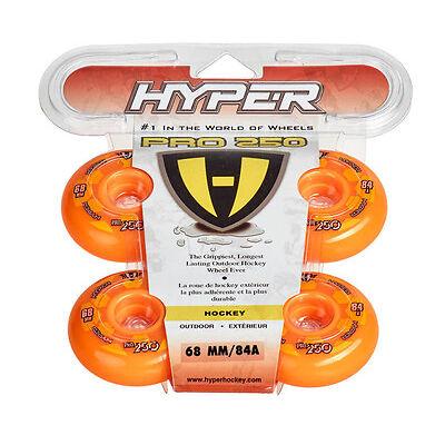 Hyper Outdoor- Rollen für Inlineskates Pro 250 Orange 72500, 84A -68 72 76 80 mm