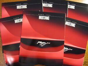 1994-Ford-Mustang-Dealer-Sales-Brochure-LOT-6-pcs-GT-Convertible-MINT