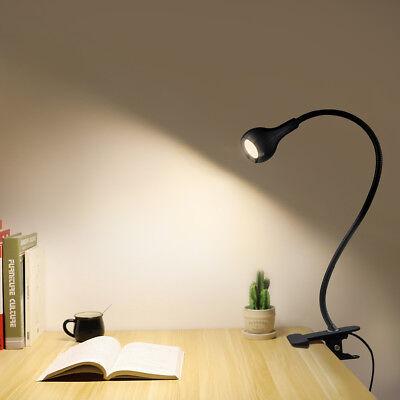 Flexible Led Table Lamp Usb Desk Holder Clip Bed Study