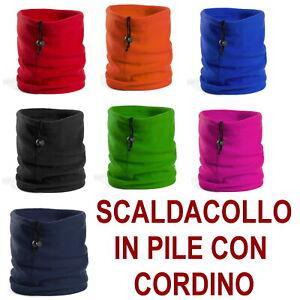SCALDACOLLO-PILE-SCIARPA-NERO-BLU-ROSSO-VERDE-FUCSIA-PARACOLLO-VENTO-CAPPELLO