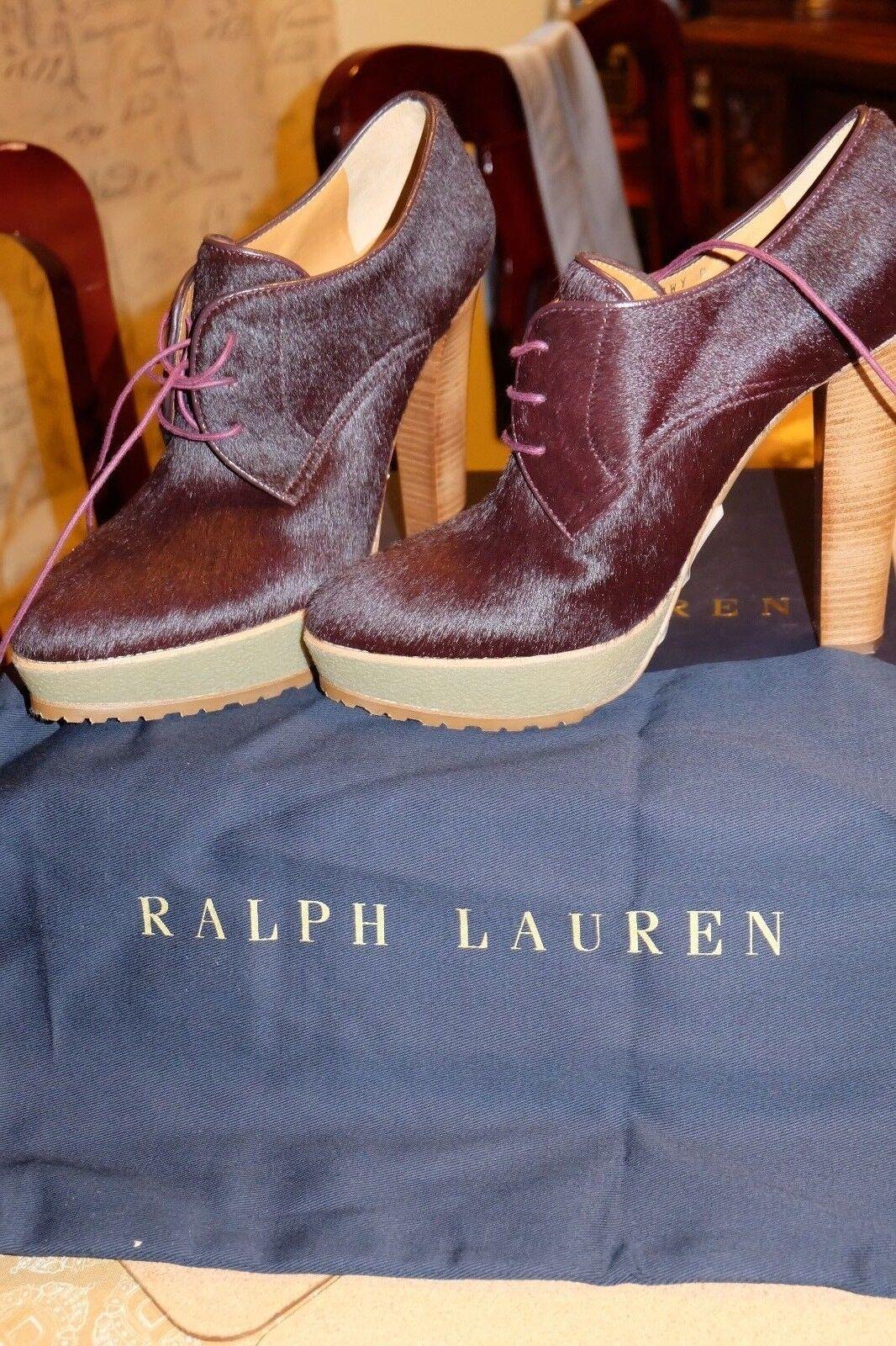695 Auténtico Ralph Lauren Collection Eloise haircalf Botín, hecho hecho hecho en Italia  venderse como panqueques