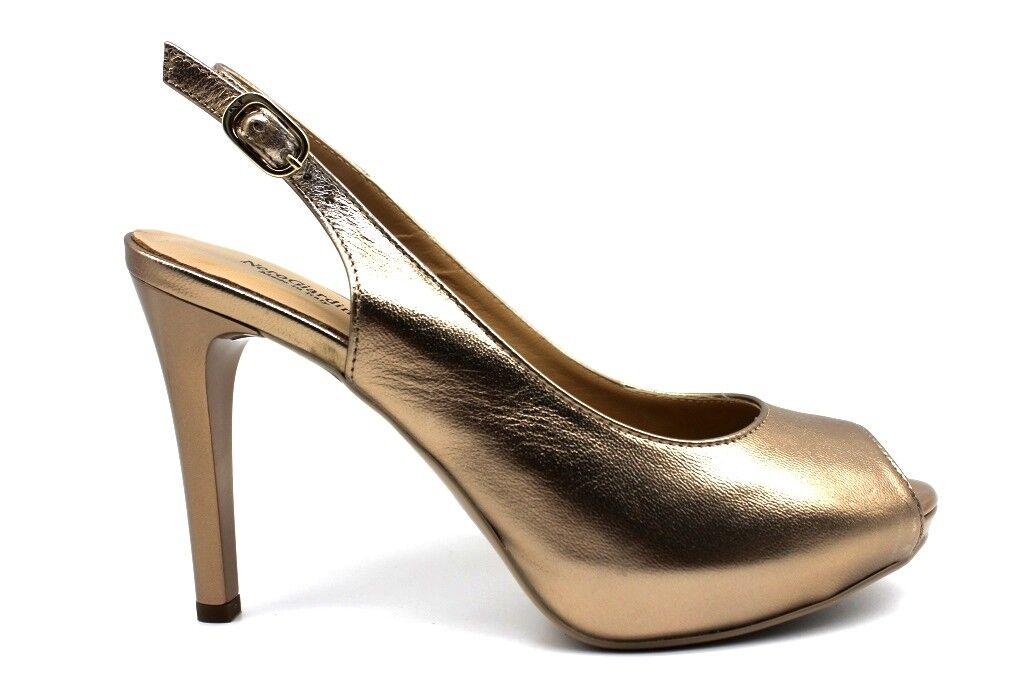 schwarz P805410DE Absatzschuhe elegant Sandalen Schuhe Gold