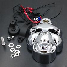 Motorcycle Chrome Skull Head Horn Cover For Harley Davidson Street Glide New