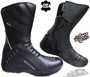 SPEED-MAX-HIGH-TECH-MENS-MOTORBIKE-MOTORCYCLE-TOURING-LEATHER-SHOES-BOOTS