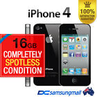 Apple iPhone 4-16GB Black USED unlocked SPOTLESS MINT CONDITION Smartphone