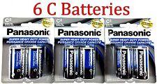 6 Wholesale C Panasonic Battery Batteries Super heavy duty Bulk Lot