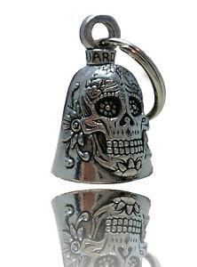 Biker-Motorrad-Guardian-Bell-Glocke-Gluecksbringer-Sugar-Skull-Mexico-DW0854